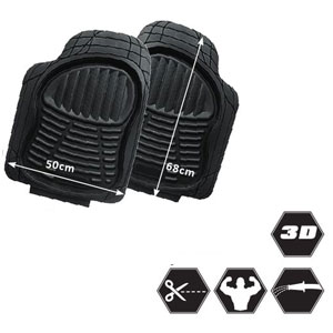Alfombras delanteras cubeta recortable pvc 3D
