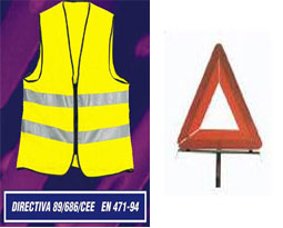 Triangle et Gilet de sécurité