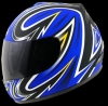 Casco Red Zed serie 401 Azul brillante
