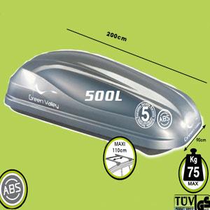 Cofre de techo Connemara 500 L. Silver