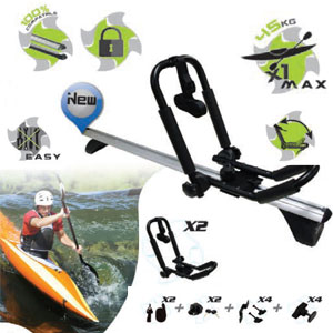 Porta Kayak sobre barra portaequipajes