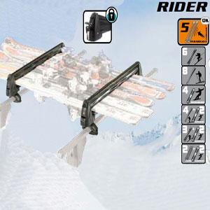 Porta esquies Rider 5 Acero