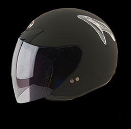 Casco Red Zed serie 225 negro brillante