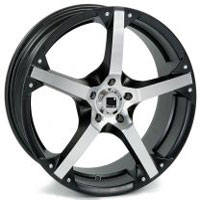 Targa Llanta Advanced 6,5  x 15  mod.T606 Black Polish.