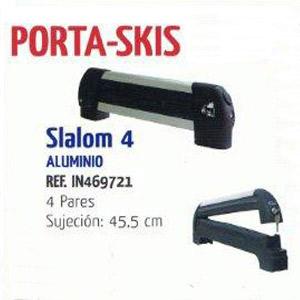 Porta esquies sobre barra Slalom 4 pares