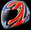 Casco Red Zed serie 401 Rojo mate
