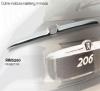 Cubre moldura maletero cromada Peugeot