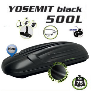 Cofre Techo Yosemit Black Carbono 500L