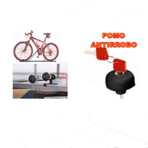 Porta bicicletas Doble Pomo